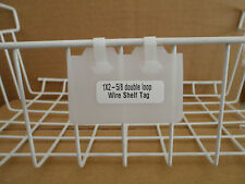 "1"" x 2-5/8"" Double Loop One-Piece Wire Rack Shelf Tag - Clear - (pkg of 100)"