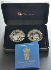 Elizabeth II Diamond Jubilee 2 Silver Coin Complete Set - Perth Mint 1K Mintage