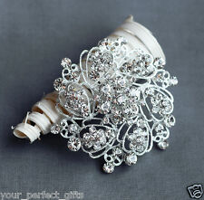 Rhinestone Brooch Pin Crystal Wedding Invitation Cake Bouquet Decoration BR112