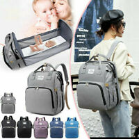 3 in 1 Foldable Mommy Baby Diaper Bag Travel Sleep Bed Portable Crib Backpack