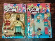 Vintage RARE The Simpsons Bootleg Figures Rubber Toy LOT 2 SETS COMPLETE FAMILY