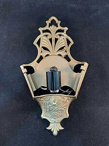 1930s Art Deco Slip Shade Cast Metal Sconce