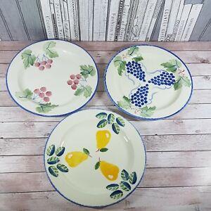 "Poole Pottery 'Dorset Fruit' Tableware 3 x Salad Plates 9"""