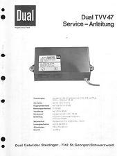 Dual Service Manual für TVV 47