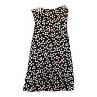 J.Crew Women's Size 8 Floral Print Silk Strapless Dress Party Fully Lined