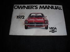 1972 Chevy Chevrolet Vega Owner Owner's Manual * Vintage * GM American Car