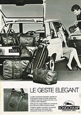 PUBLICITE ADVERTISING 045 1981  LONGCHAMP   valises bagages