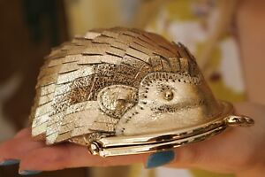 NEW  KATE SPADE GOLD HEDGEHOG COIN PURSE - HTF METALLIC GOLD PURSE PET - SO CUTE