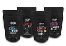 Whole Bean Coffee 4 Bag Gift Box Set, Single Origin Gourmet Coffee, Roasted
