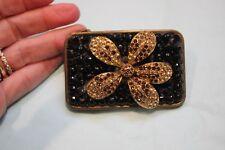 Handmade Swarovski Crystal Vint Brooch Belt Buckle Rhinestone Jewelry Rodeo