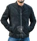 James Bond Spectre 100% Genuine Lamb Black Suede Leather Jacket
