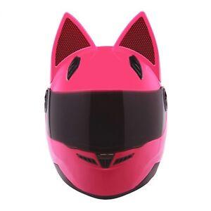 Helmet Ears Cat Stick Motorcycle Casco Full Face Horns Snowboard Racing Large