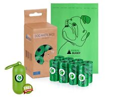 Animal Buddy Biodegradable Eco-friendly Dog Poop Waste Bags 120 in 8 Rolls|gift