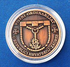 MILITARY ORDINARIAT 1997-2007 CROATIAN ARMY MEDAl,VOJNI ORDINARIJAT U HRVATSKOJ