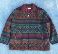 Men's Vintage L.L. Bean Southwestern Blanket Coat Jacket Wool Blend
