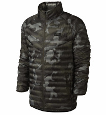 Brand New Nike Guild 550 Down Hooded Jacket 708324-037 Camo Size S Men