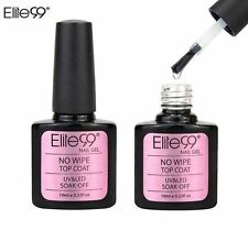 Elite99 No Wipe Top Coat UV LED Gel Nail Polish Sealer Soak Off No Tackiness UK