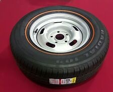 FORD FALCON 5 SLOT RIM AND TYRE SUIT SPARE XW XY GT GS SMALL CENTRE 205/70/14