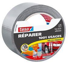 Tesa Réparer 1001 Usages Toile Très Résistante 25 m x 50 mm Gris lot de 2