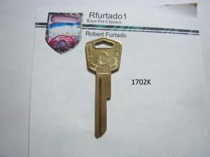 Key Blank for Vintage Desoto 1957 to 1959 ignition/doors  (1702K)