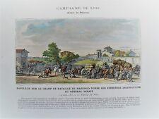 C20-70 Lithographie 19e campagne de 1800 armée de réserve Napoléon