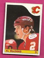 1985-86 OPC  # 237 FLAMES AL MACINNIS  ROOKIE VG+ CARD (INV# C1834)
