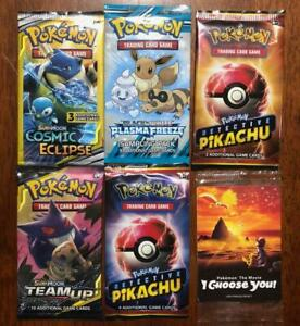 Pokemon Sealed 3 Card Booster Pack X 1 & Sealed Booster Pack X 1 Pick From List!