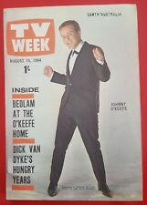♫ JOHNNY O'KEEFE 1964 cover and great article Australian TV Week - complete  ♫