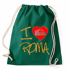 Art T-shirt, Zaino I Love Roma, Verde, Sacca Gym