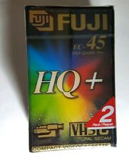 Double pack FUJI VHS-C EC-45 HQ+ 45 Minute Compact Camcorder Tape Cassettes BNIP