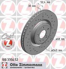 Disque de frein avant ZIMMERMANN PERCE 100.3356.52 AUDI Q5 8R 2.0 TFSI hybrid qu