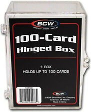 (10) BCW-HB100 BCW 100 Count Hinged Trading Card Storage Box Case Holder Protect