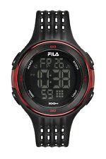 FILA ACTIVE 38-093-001 Uhr Armbanduhr Sport Uhren Jogging Fitness Unisex Schwarz