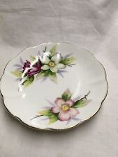 Floral Saucer - HAnd Painted Bone China