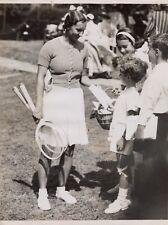TENNIS MISS DOROTHY ROUND  1934 AGENCE TRAMPUS