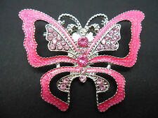Pink Butterfly Costume Brooches & Pins