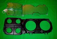 73-87 Chevy Truck GM OEM Gauge Cluster Clear Lens WITH CLOCK & Black Bezel 81-87