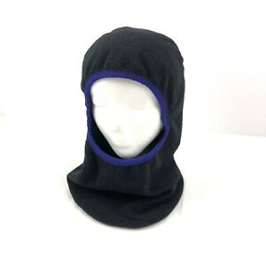 Vintage Patagonia Face Mask Hat Style Balaclava Fleece Winter Black Made In USA