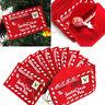 Noël Christmas Santa Claus Envelope Xmas Tree Hanging Decor Card Bag Cadeau Gift