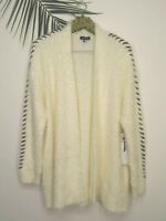 NWT 1 State Women's White Long Sleeves Cardigan Plus Size XXL