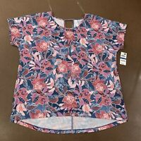 Ideology Women's Size XL Wall Flower Colorful Short Sleeve Athletic T-Shirt NWT