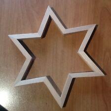 Support en bois à peindre - étoile