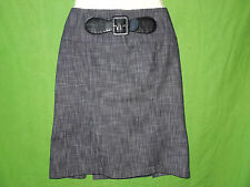 Tracy Evans Limited cotton blend gray knee length pencil straight skirt size 11