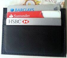 Real Leather Black credit card oyster holder moneywallet 7slots Slim Smart Model