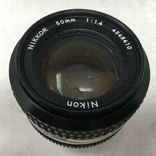 NIKKOR 50mm 1:1.4 NIKON Lens. Serial Number: 4548410 Made in JAPAN. No lens caps