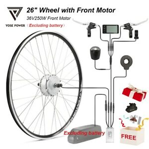 """36V 250W 26"""" Wheel with Front Motor Electric Bicycle Ebike Conversion Kit Sliver"""