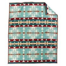 Authentic Pendleton Hacienda Robe Blanket - Aqua Twin