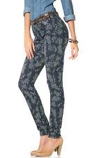 ARIZONA Jeans Jeggings 36 Röhre Stretch Hose Slimfit Eng Blumen Blau Used NEU