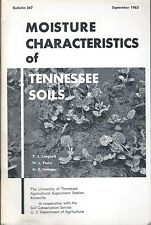 Research Report - Moisture Characteristics of Tennessee Soils - 1963 (F5603)