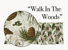 Window Curtain Valance - Walk in the Woods by Park Designs - Pinecone Lodge Wood